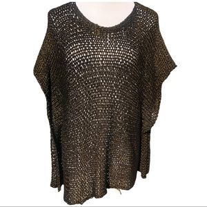 EILEEN FISHER shimmery knit top